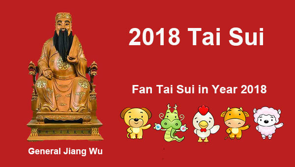 Which Chinese Zodiac 'Fan Tai Sui' in Year 2018?