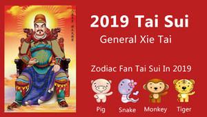 Chinese Zodiac 'Fan Tai Sui', Clash with Tai Sui 2019
